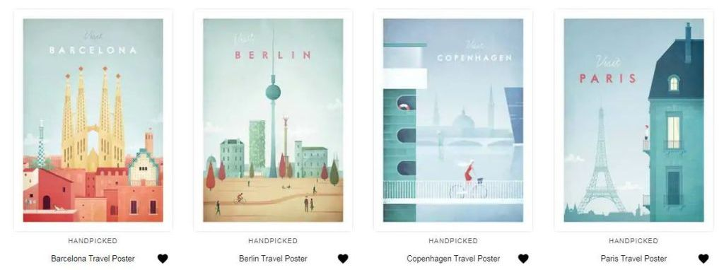 Travel Posters Henry Rivers