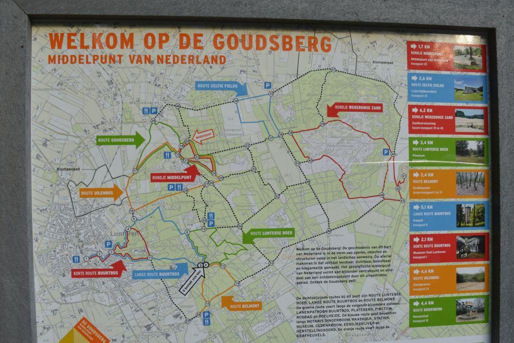 Kaart wandelnetwerk Goudsberg