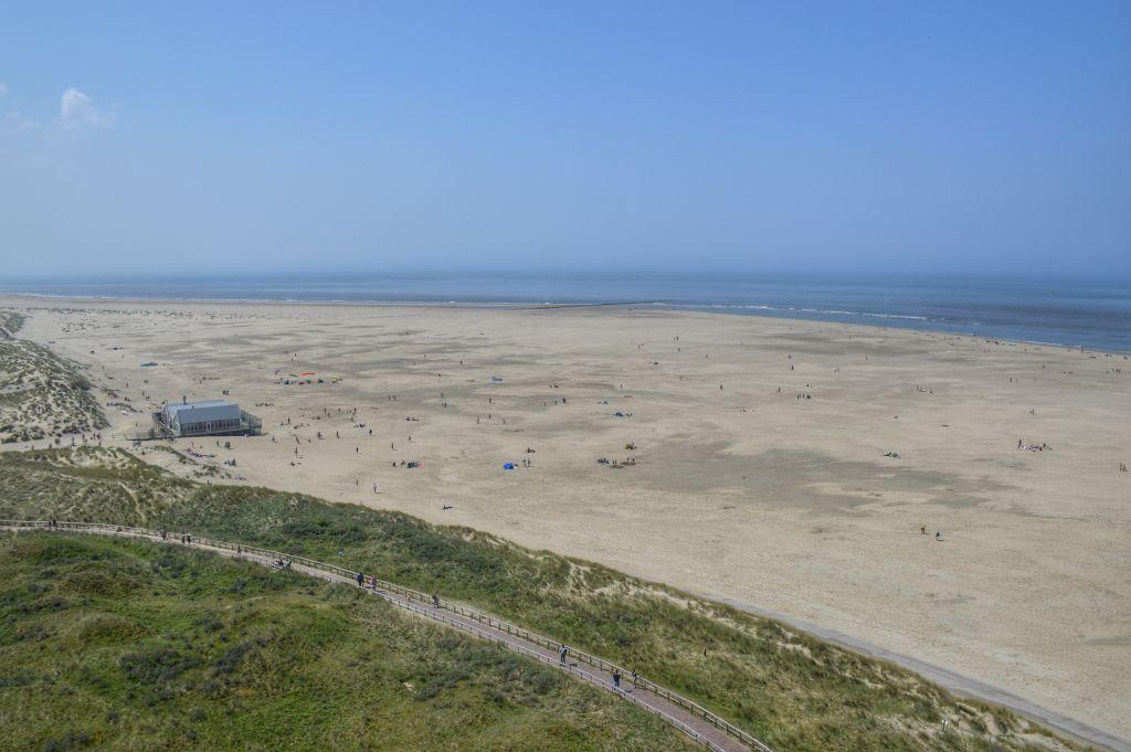 Uitzicht vanaf de vuurtoren op Texel