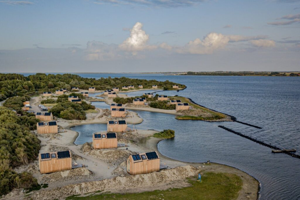 Vakantiehuisjes aan het Grevelingenmeer