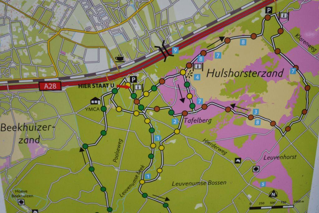 Wandelroutes Hulshorsterzand