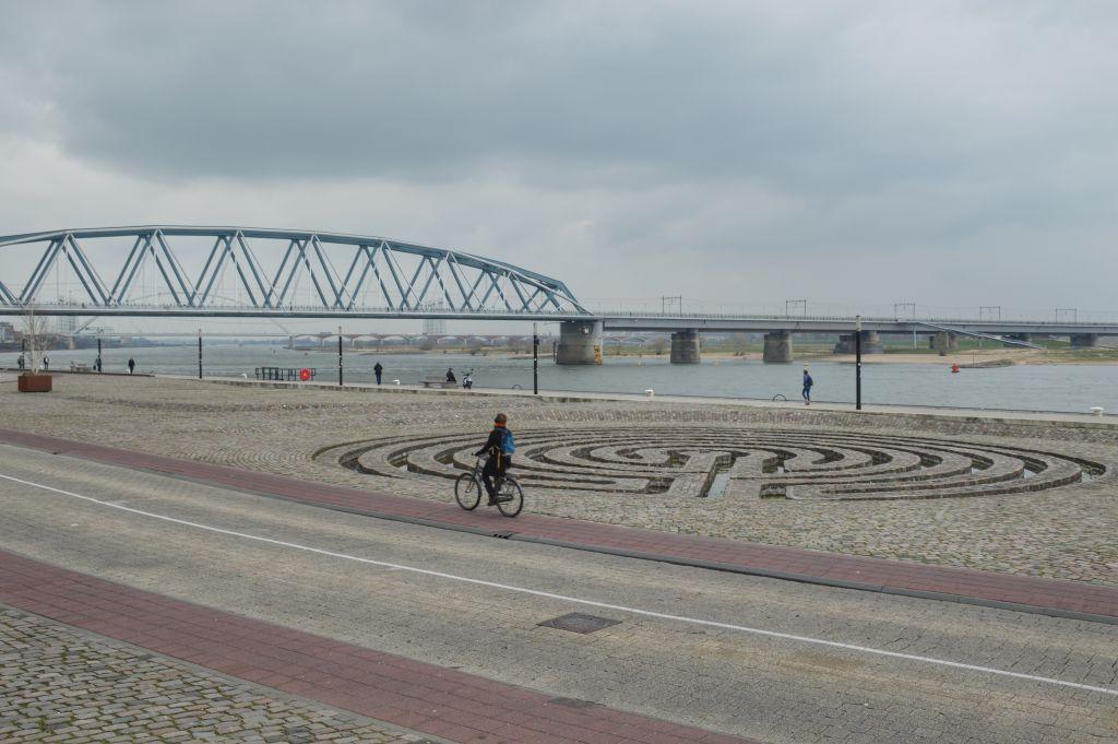 Waterlabyrint Waalkade Nijmegen