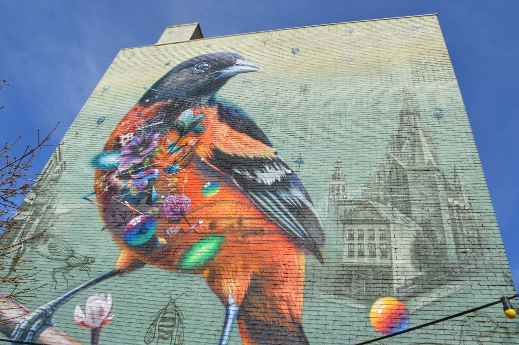 Muurschildering Cafe van Deelen Nijmegen