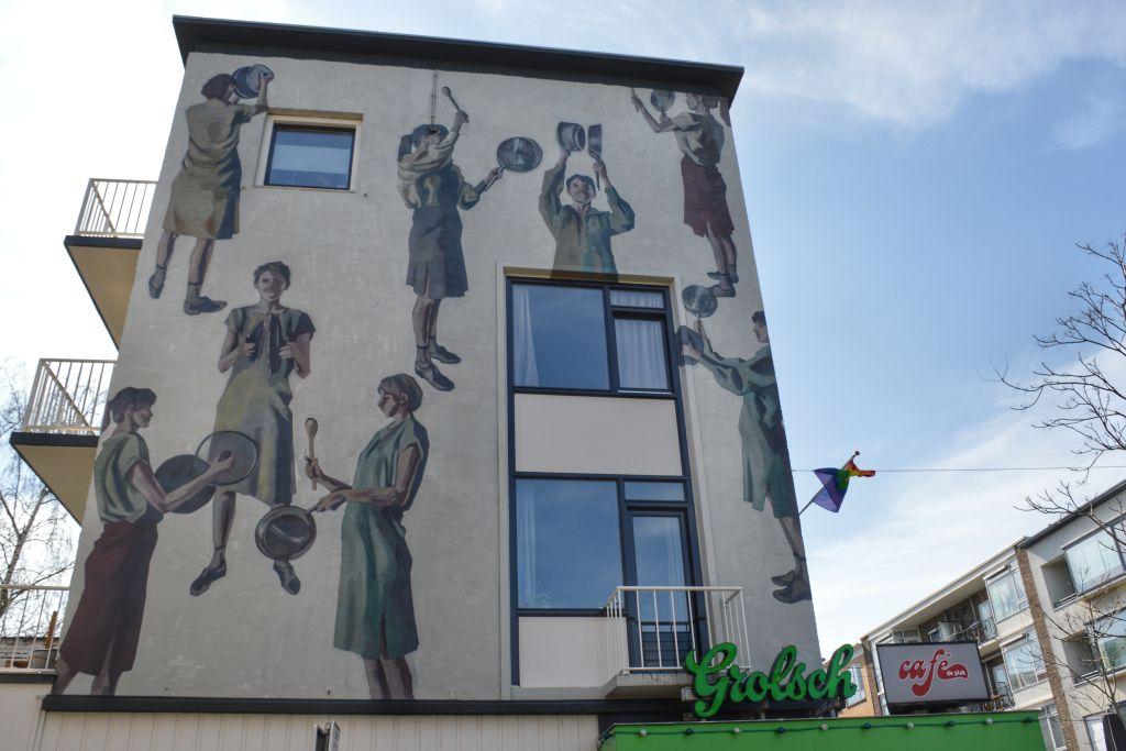 Muurschildering Cafe de Plak Nijmegen