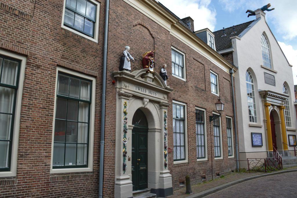 Het oude Weeshuis en de Mariakapel in Hoorn