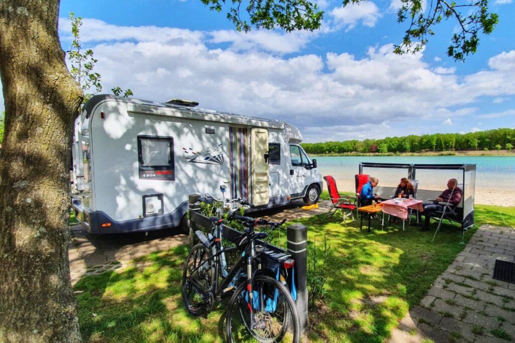 Mooie camperplaatsen aan het water:  Duynenwater Eersel
