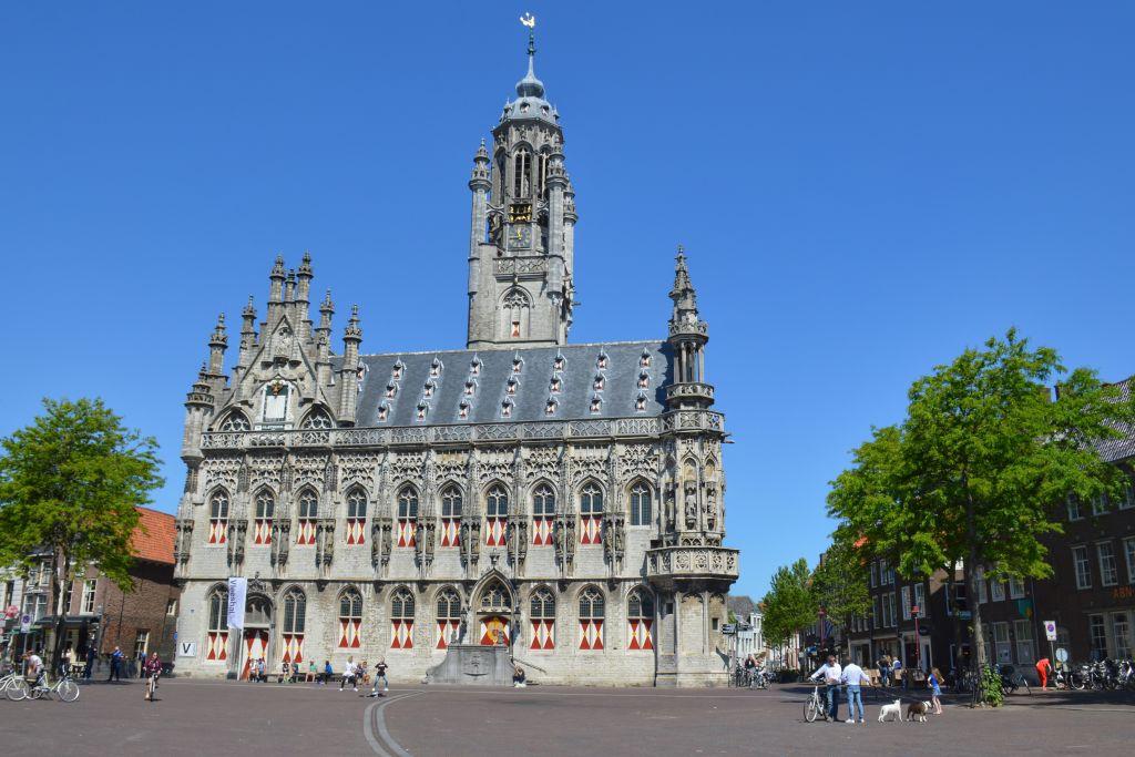 Het stadhuis in Middelburg